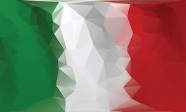 Indicador italiano Bandera colorida poligonal Fotografía de archivo libre de regalías