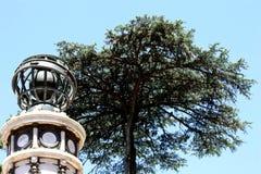 Indicador meteorológico velho no jardim botânico da cidade autônoma de Buenos Aires foto de stock