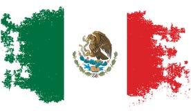 Bandera mexicana del Grunge Foto de archivo