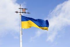 Indicador nacional de Ucrania fotografía de archivo