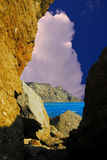 Indicador nas rochas Fotos de Stock