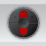 Indicador negro de la condición del aire con el lcd rojo Imágenes de archivo libres de regalías