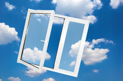 Indicador no céu azul Imagem de Stock