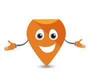 Indicador Pin Character Imagen de archivo libre de regalías