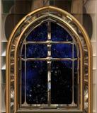 Indicador que olha para fora ao espaço ou ao céu nocturno Fotos de Stock Royalty Free