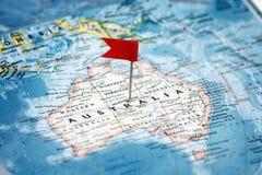 Indicador que señala Australia Imagen de archivo libre de regalías