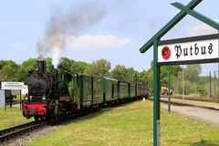 Indicador Rasender ferroviario Roland, isla de Ruegen foto de archivo libre de regalías