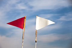 Indicador rojo y blanco Fotografía de archivo libre de regalías