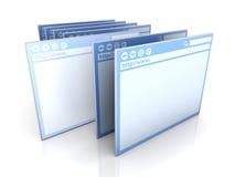 Indicador selecionado do navegador ilustração stock