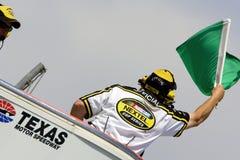 Indicador verde en el carretera de motor de Tejas Fotos de archivo