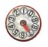 Indicador viejo del dial aislado. fotos de archivo libres de regalías