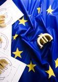 Indicador y euro fotos de archivo libres de regalías