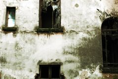 Indicadores abandonados do edifício Foto de Stock