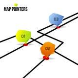 Indicadores abstractos del mapa Imagenes de archivo