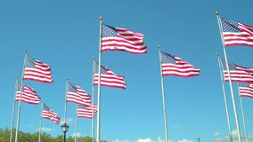 Indicadores americanos en el viento metrajes