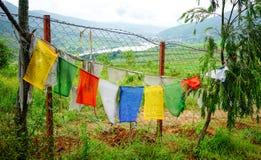 Indicadores budistas tibetanos del rezo Fotografía de archivo libre de regalías