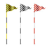 Indicadores Checkered Fotografía de archivo libre de regalías
