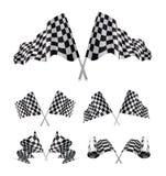 Indicadores Checkered fijados Foto de archivo libre de regalías
