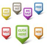 Indicadores coloridos del web en el fondo blanco Imagen de archivo libre de regalías
