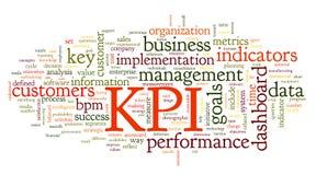 Indicadores de desempenho da chave de KPI Foto de Stock Royalty Free