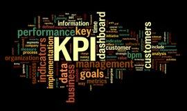 Indicadores de desempenho da chave de KPI Fotografia de Stock