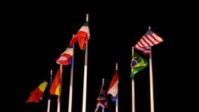 Indicadores de diversas naciones almacen de metraje de vídeo