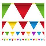 Indicadores de la celebración del triángulo del color stock de ilustración
