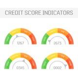 Indicadores de la cuenta de crédito stock de ilustración
