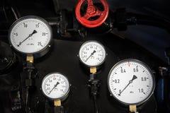 Indicadores de la locomotora de vapor 2 Fotos de archivo libres de regalías