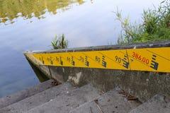 Indicadores de nível de água fotos de stock