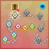 Indicadores de nível para o ui do jogo ilustração royalty free