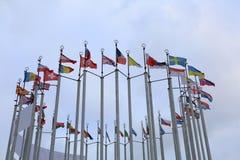 Indicadores de países europeos Foto de archivo libre de regalías