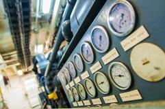 Indicadores de presión industriales Foto de archivo