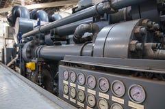 Indicadores de presión industriales Imágenes de archivo libres de regalías