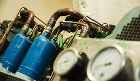Indicadores de presión industriales Fotos de archivo