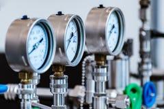 Indicadores de presión mecánicos Imagen de archivo