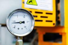 Indicadores de presión mecánicos Imagenes de archivo