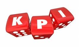Indicadores de rendimiento clave de KPI 3 dados del balanceo ilustración del vector