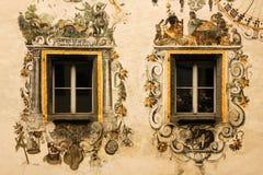 Indicadores decorados Berchtesgaden germany imagens de stock
