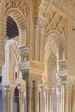 Indicadores decorativos no palácio de Alhambra imagem de stock