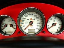 Indicadores del coche. Foto de archivo libre de regalías