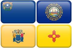 Indicadores del estado: Nevada, de New Hampshire, New Jersey, nanómetro Imagenes de archivo