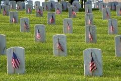 Indicadores del Memorial Day Foto de archivo libre de regalías