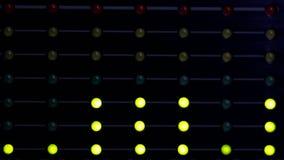 Indicadores del nivel LED audio almacen de metraje de vídeo