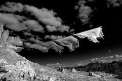 Indicadores del rezo en el viento Fotografía de archivo libre de regalías