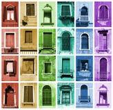 Indicadores do arco-íris Foto de Stock