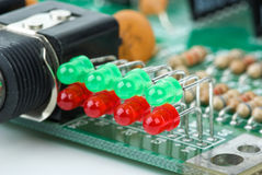 Indicadores do diodo emissor de luz Foto de Stock Royalty Free