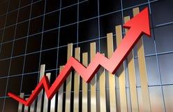 Indicadores econômicos fotografia de stock
