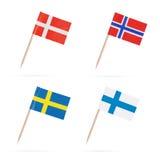 Indicadores escandinavos fotos de archivo
