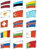 Indicadores europeos stock de ilustración